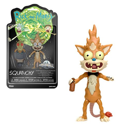 "Rick and Morty ""Squanchy"" Action Figure - Spoke Art"