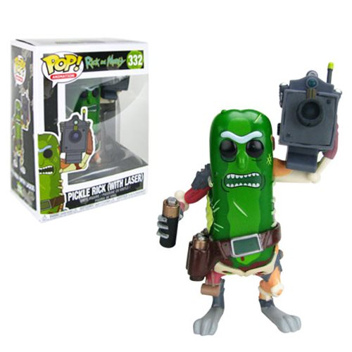 "Funko POP! Rick and Morty: ""Pickle Rick with Laser"" Vinyl Figure - Spoke Art"