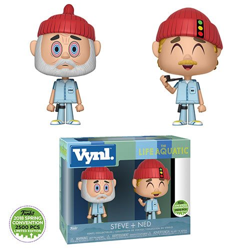 "Funko VYNL: ""The Life Aquatic with Steve Zissou Steve and Ned"" Vinyl Figure 2-Pack - 2018 Convention Exclusive - Spoke Art"