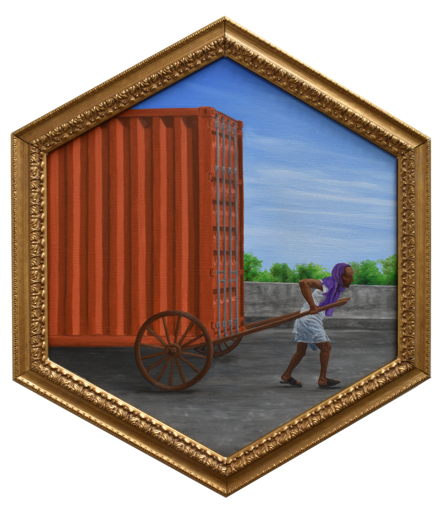 "Peter Adamyan - ""Foot Rickshaw Cargo Delivery"" - Spoke Art"