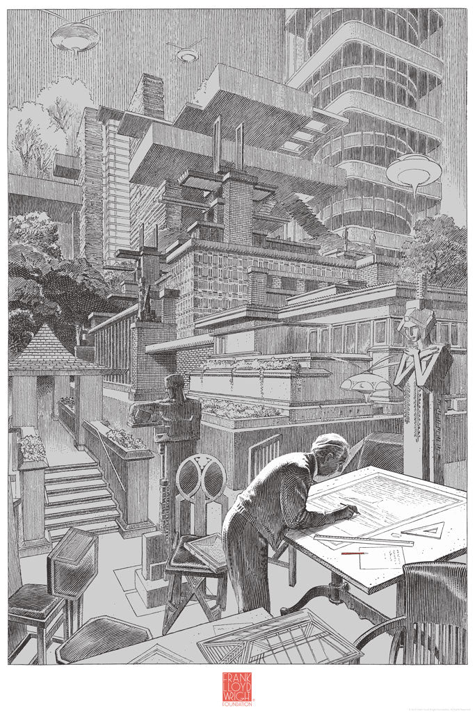 "François Schuiten - ""FLW"" - Spoke Art"