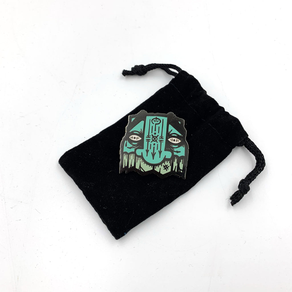 GATS - Mask Enamel Pins - Spoke Art