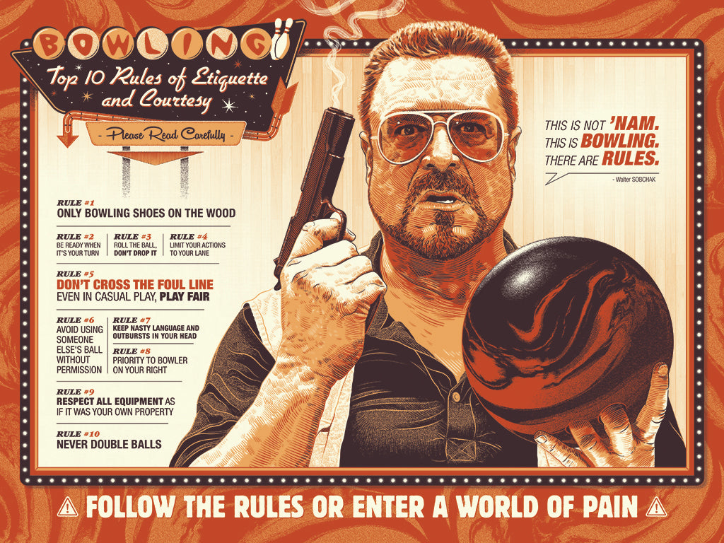 "Guillaume Morellec - ""The Big Lebowski: Bowling Rules"" - Spoke Art"