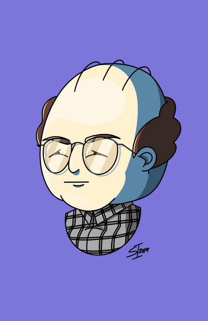 "Stephanie Insalaco - ""Seinfeld Pop Art Caricatures: George"" - Spoke Art"