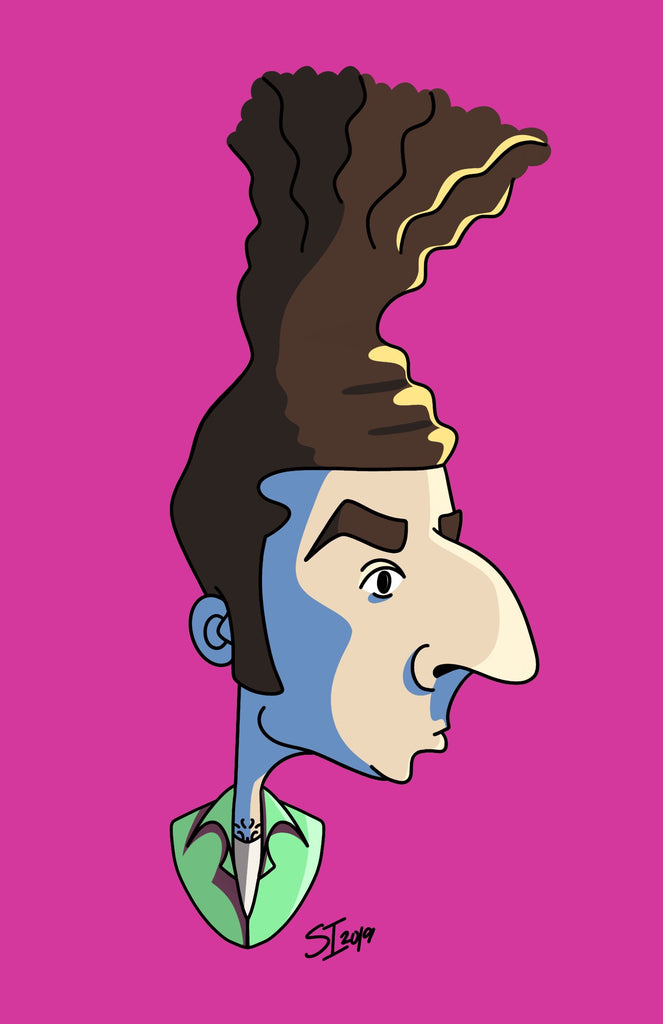 "Stephanie Insalaco - ""Seinfeld Pop Art Caricatures: Kramer"" - Spoke Art"