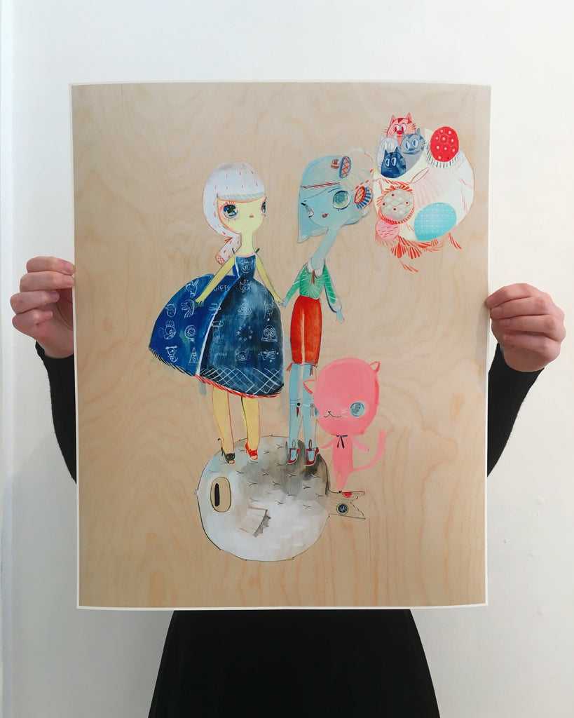 "Kelly Tunstall + Ferris Plock - ""fugu"" print - Spoke Art"