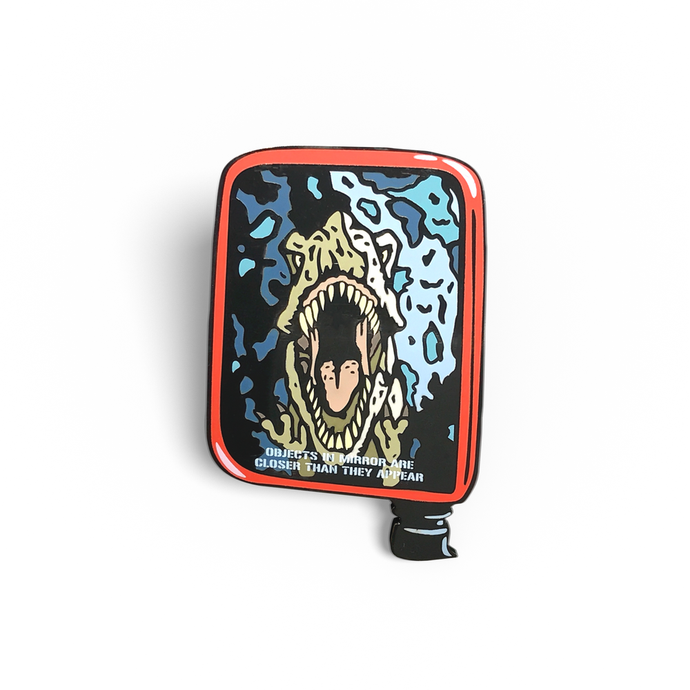 T-Rex Rear View Mirror Enamel Pin