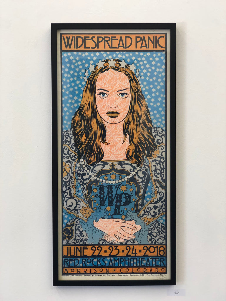 Chuck Sperry -  Widespread Panic, Red Rocks 2018 - Spoke Art
