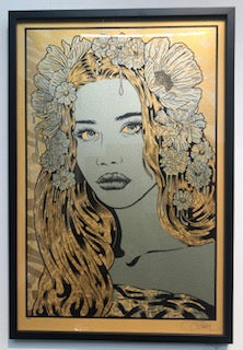 "Chuck Sperry - ""The Seer"" (Gold Metallic Paper Signed Test Print) - Spoke Art"