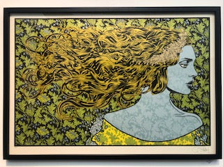 Chuck Sperry - Dryad (Silver, Gold, Yellow Signed Test Print) - Spoke Art