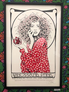 "Chuck Sperry - ""Widespread Panic, Winter Lady"" (Red, Black Signed Test Print) - Spoke Art"