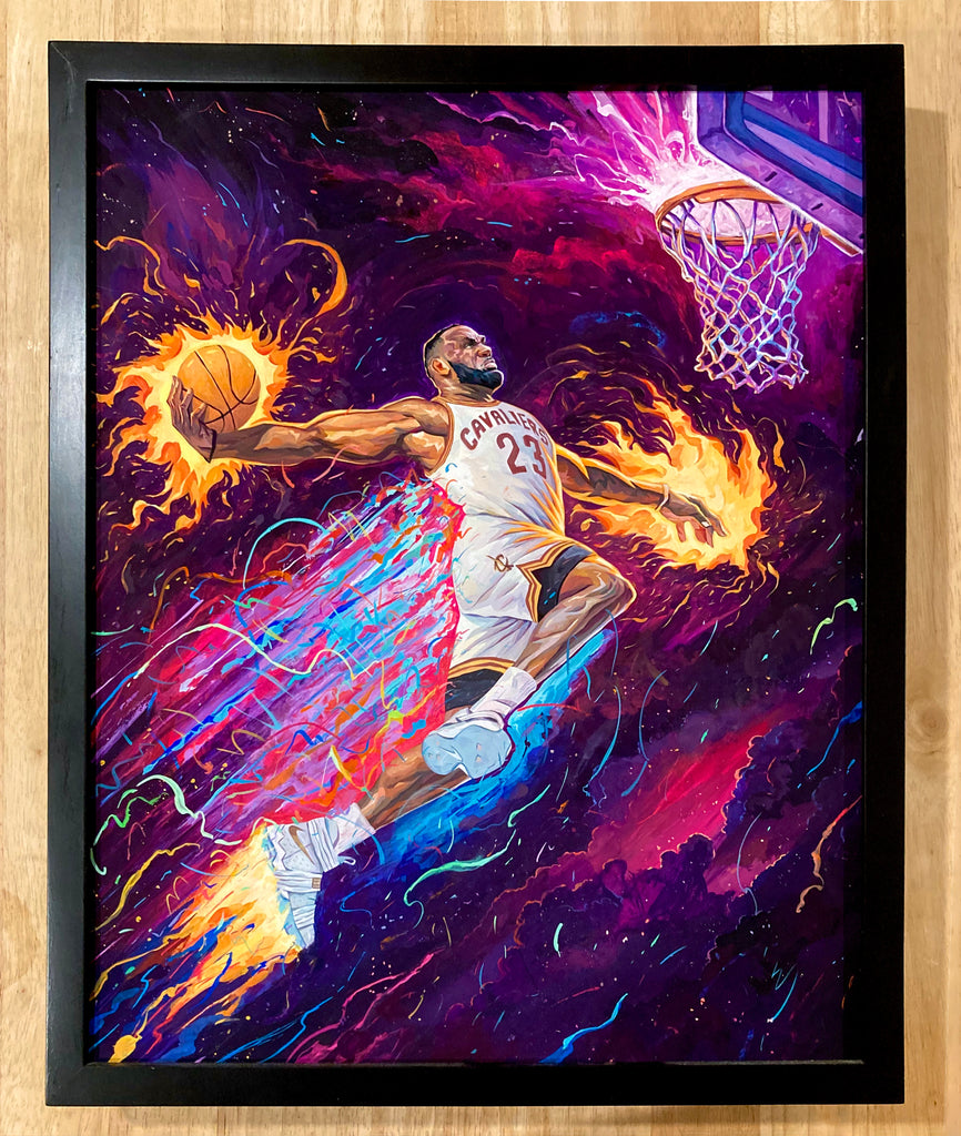 "Rich Pellegrino - ""King of the Court"" (Original Cavs Art) - Spoke Art"