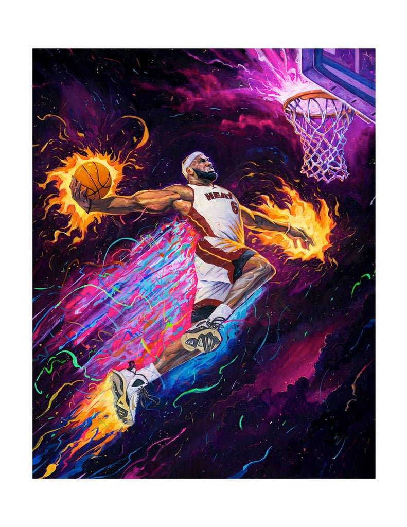 "Rich Pellegrino - ""King of the Court"" (Portrait Remarque Edition - Lakers/Heat/Cavs)"