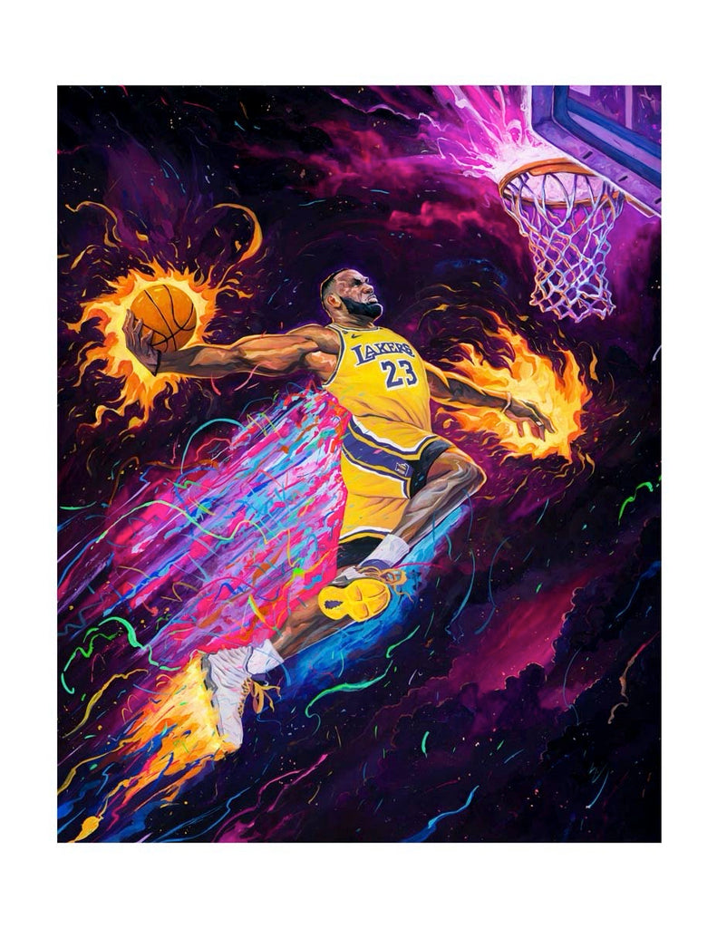 "Rich Pellegrino - ""King of the Court"" (Regular Timed Edition - Lakers/Heat/Cavs) - Spoke Art"