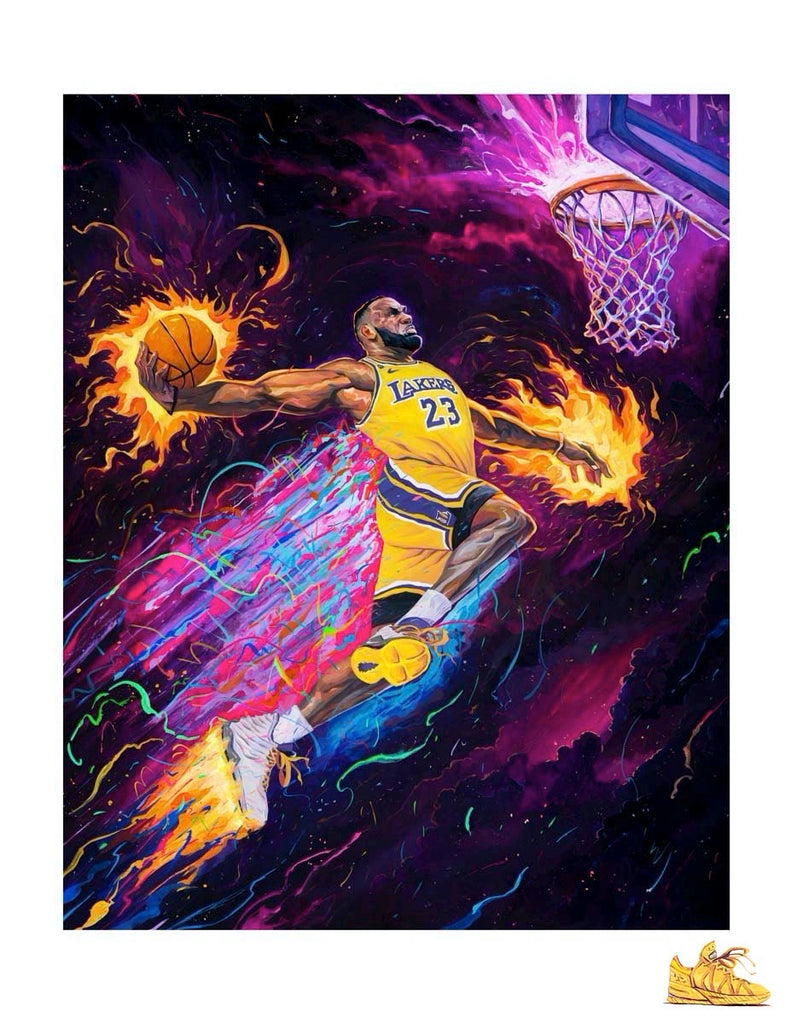 "Rich Pellegrino - ""King of the Court"" (Sneaker Remarque Edition - Lakers/Heat/Cavs) - Spoke Art"