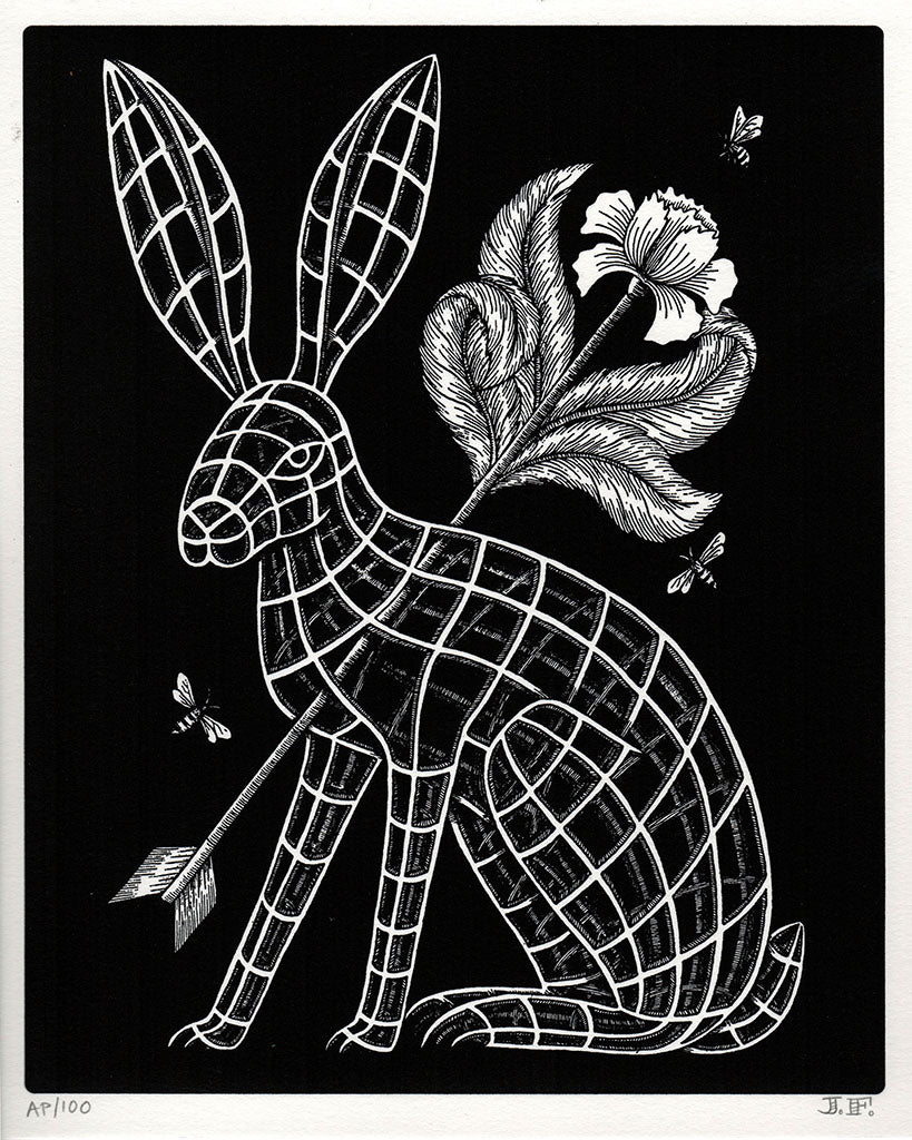 "Jayde Fish - ""The Hare"" (print)"