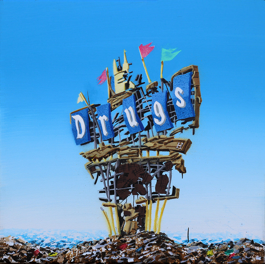 "Jeff Gillette ""Disneyland Sign: 'Drugs'"""