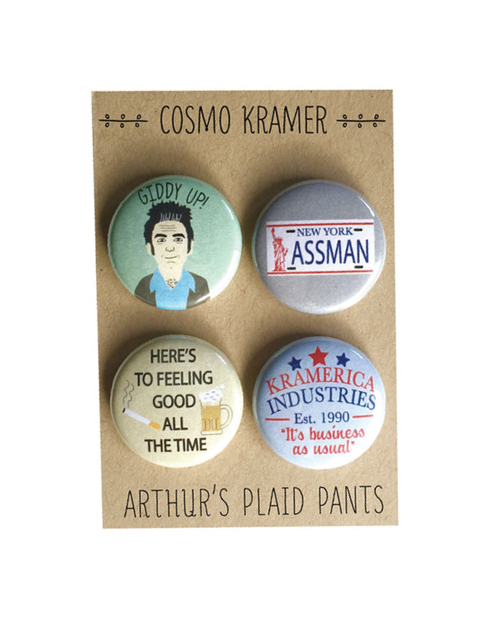 Arthur's Plaid Pants - Kramer 4 Button Set - Spoke Art