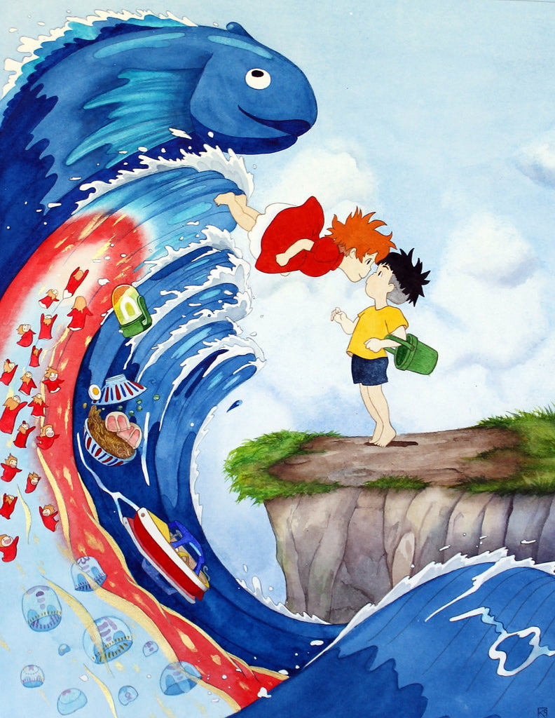 "Kate Snow - ""Ponyo Loves Sosuke"" - Spoke Art"