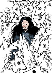 "Kelly Johnson - ""Jon Snow and the Wolves"" (print)"