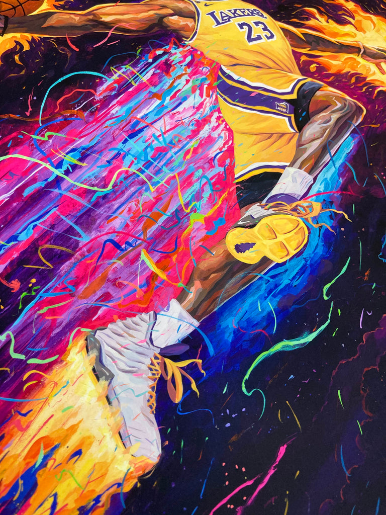 "Rich Pellegrino - ""King of the Court"" (Heat & Lakers 1/1 Hand Embellished Editions) - Spoke Art"