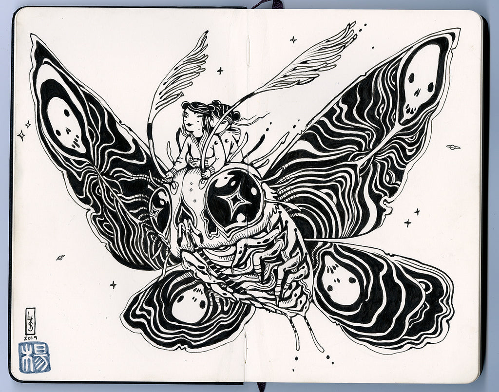 "Lauren YS  - ""Moth Riders"" - Spoke Art"