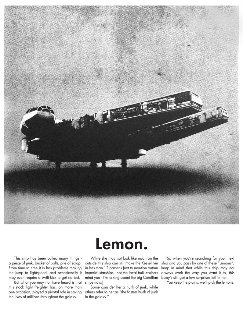"Justin Van Genderen - ""Lemon - Millennium Falcon"" - Spoke Art"
