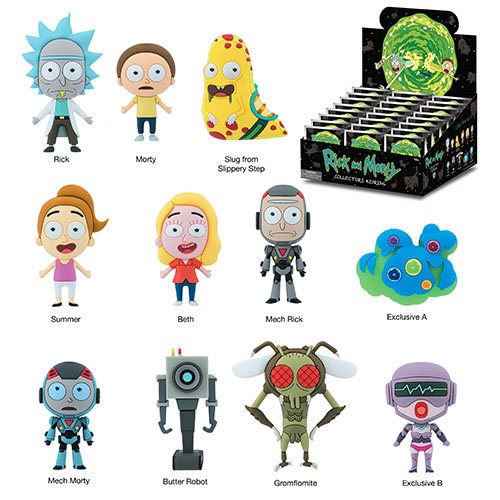 Rick and Morty 3D Figural Key Chain Blind Bag - Spoke Art