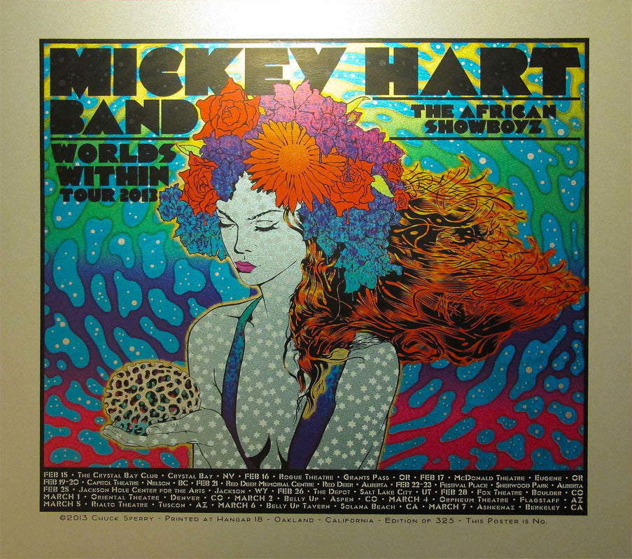 Chuck Sperry - Mickey Hart Band Worlds Within Tour Poster (Silver)