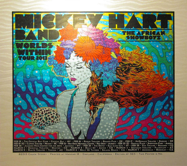 Chuck Sperry - Mickey Hart Band Worlds Within Tour Poster (Wave Foil)