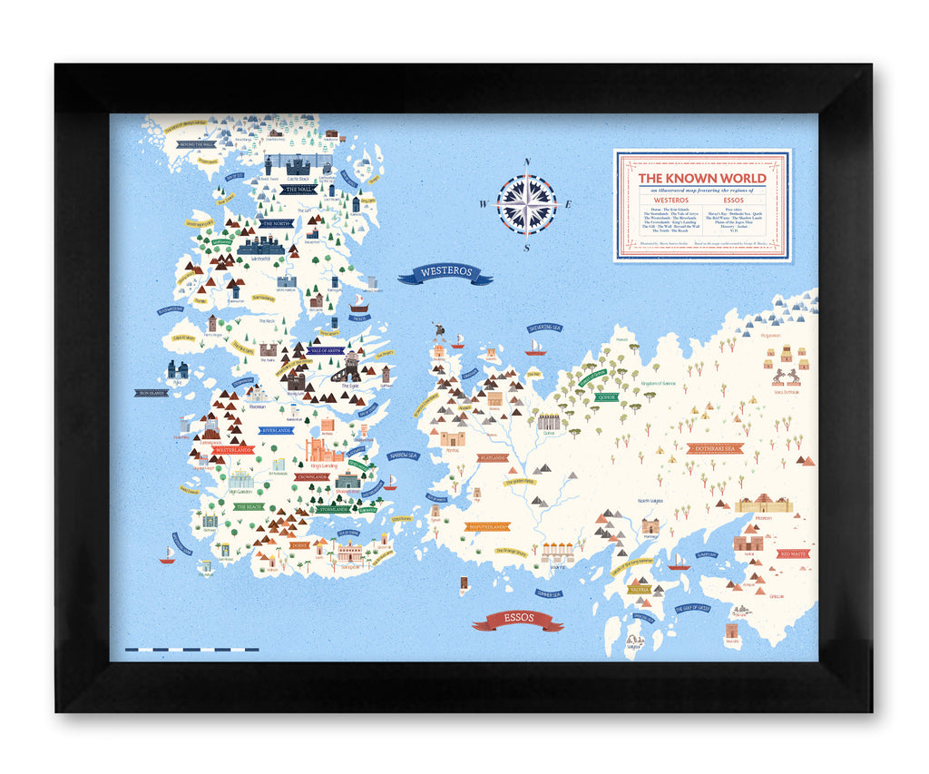 "Maria Suarez Inclan - ""Westeros & Essos Map"" - Spoke Art"