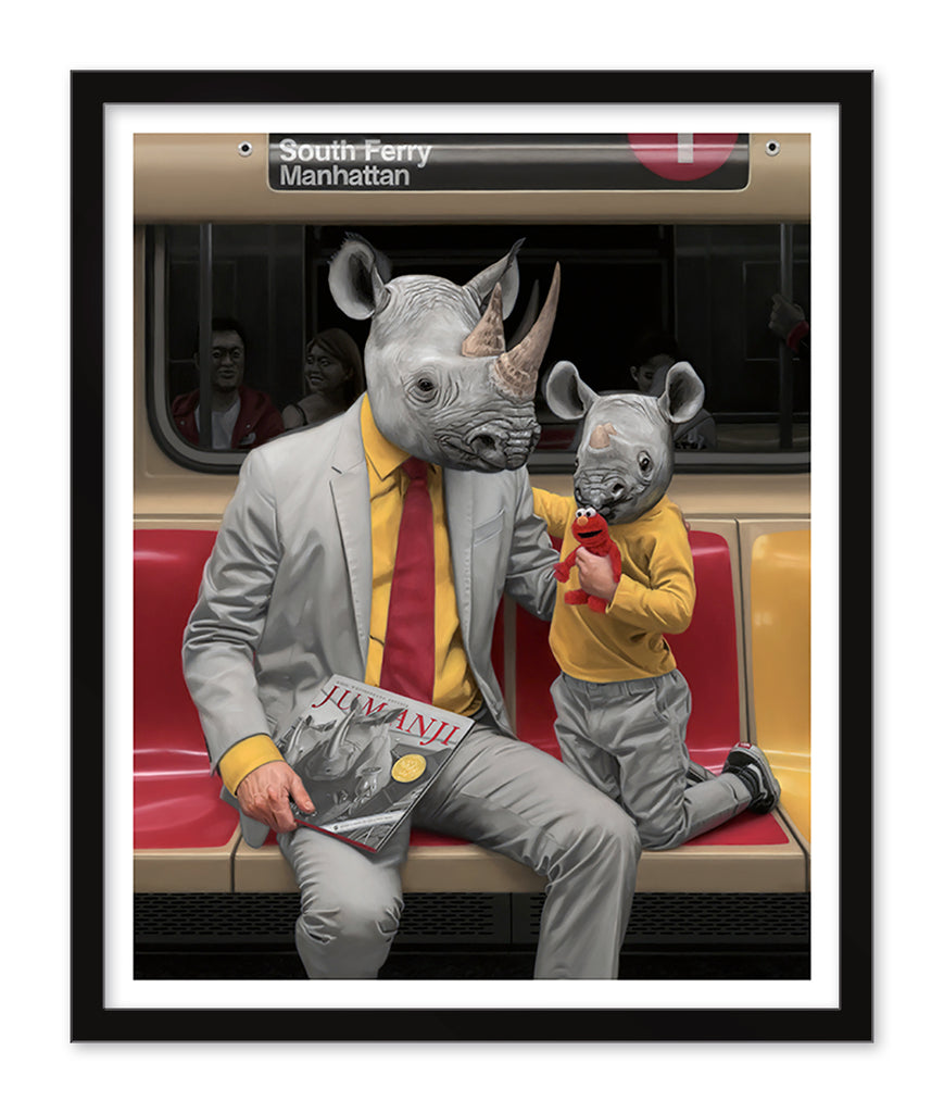 "Matthew Grabelsky - ""South Ferry"" (print) - Spoke Art"