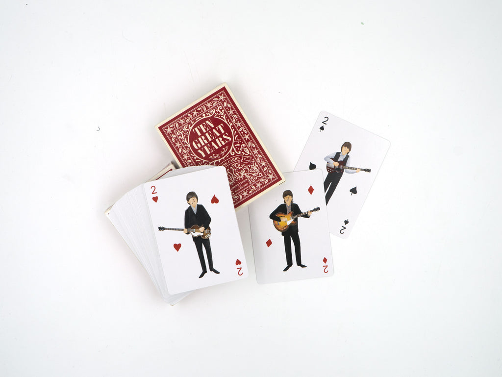 "Max Dalton - ""The Beatles Ten Great Years Playing Cards"" - Spoke Art"