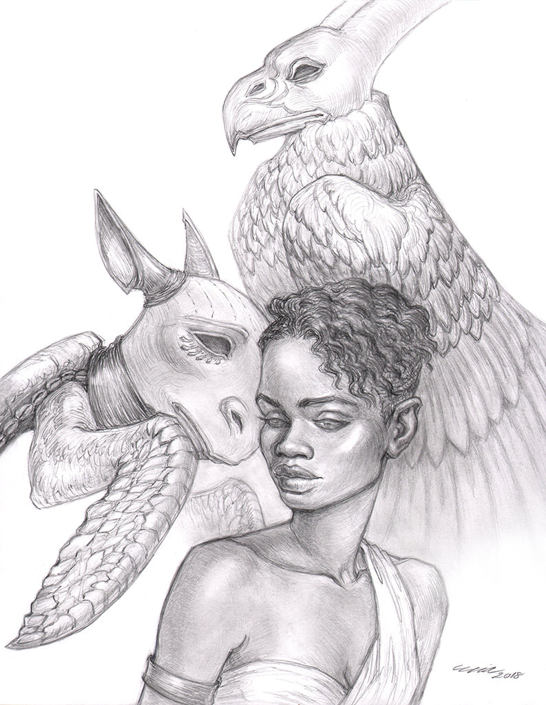 "Mia Araujo - ""The Mock Turtle and The Gryphon"""