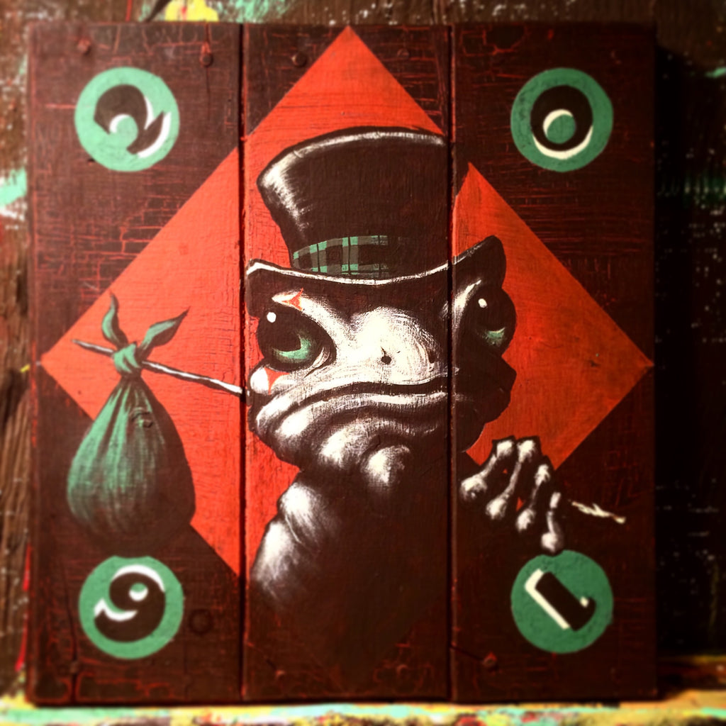 "Mike Shine ""Henny, the Carny Tree Frog"" - Spoke Art"