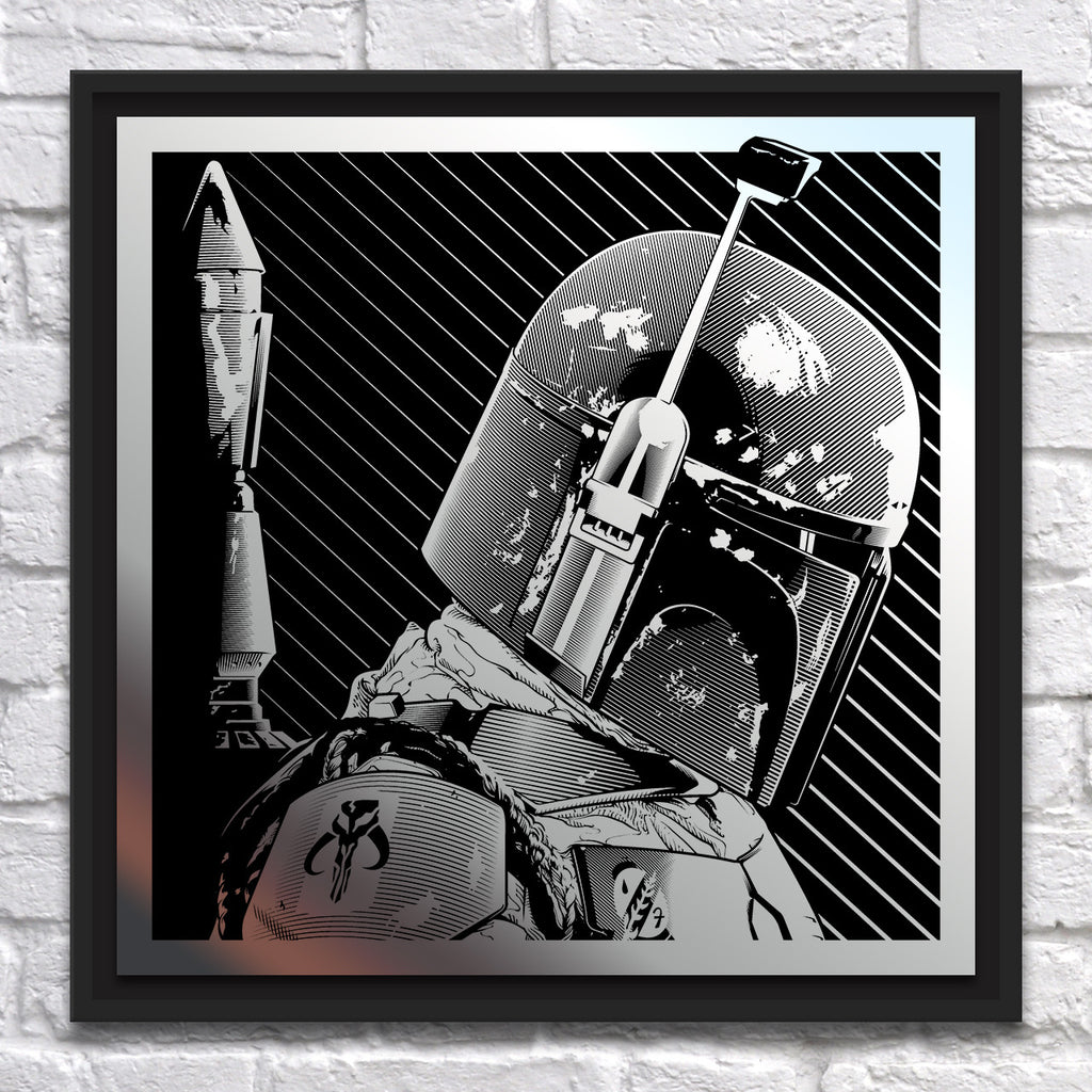 "Joshua Budich - ""Boba Fett"" - Mirror Steel - Spoke Art"