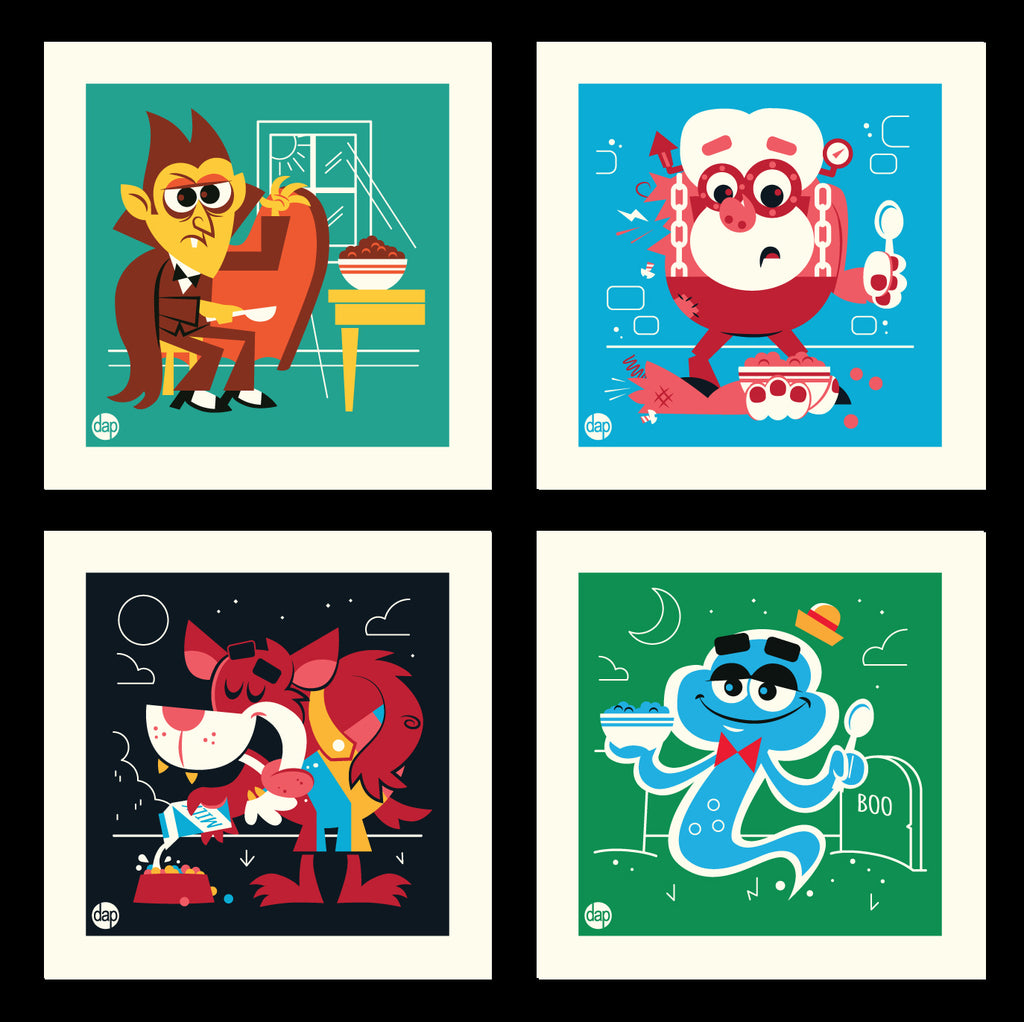 "Dave Perillo - ""Cereal Creepies"" Print Set"