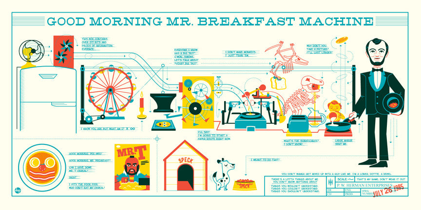 "Dave Perillo - ""Mr. Breakfast Machine"" - Spoke Art"