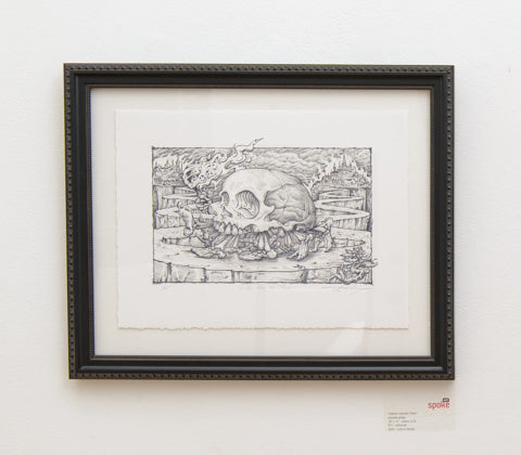 "A.J. Masthay - ""Neither Here Nor There"" (Graphite) Print - Spoke Art"
