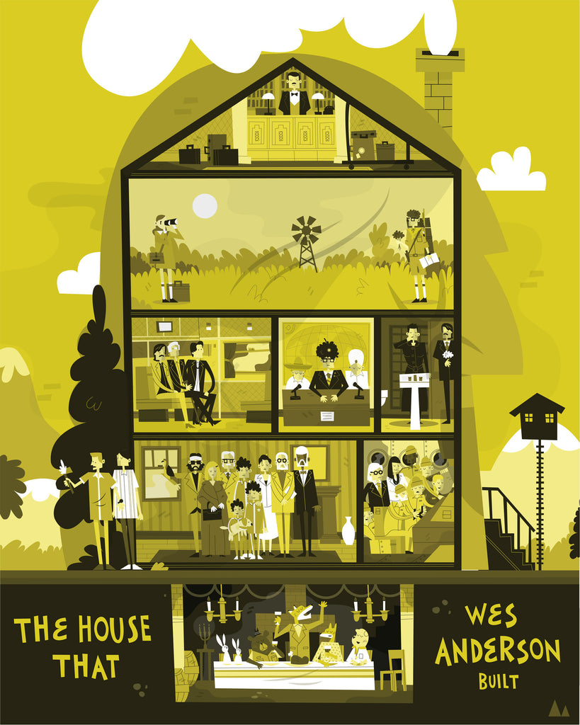 "Nick Stokes - ""The House that Wes Anderson Built"" - Spoke Art"