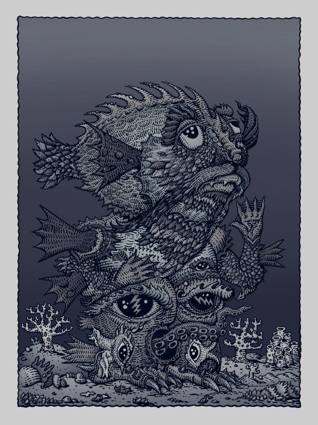 "David Welker - ""Ocean Man Silver"" print - Spoke Art"