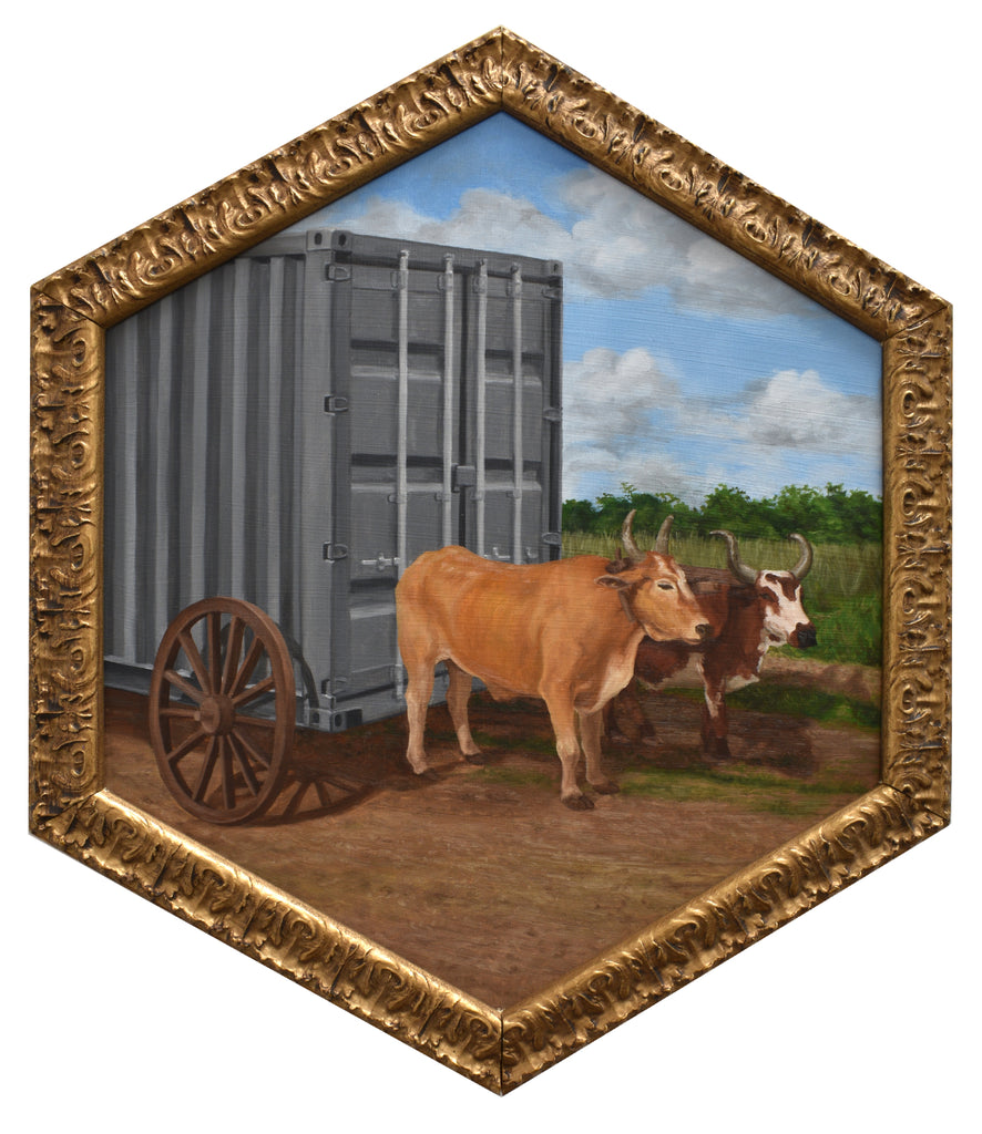 "Peter Adamyan - ""Ox Pulled Cargo Delivery"" - Spoke Art"