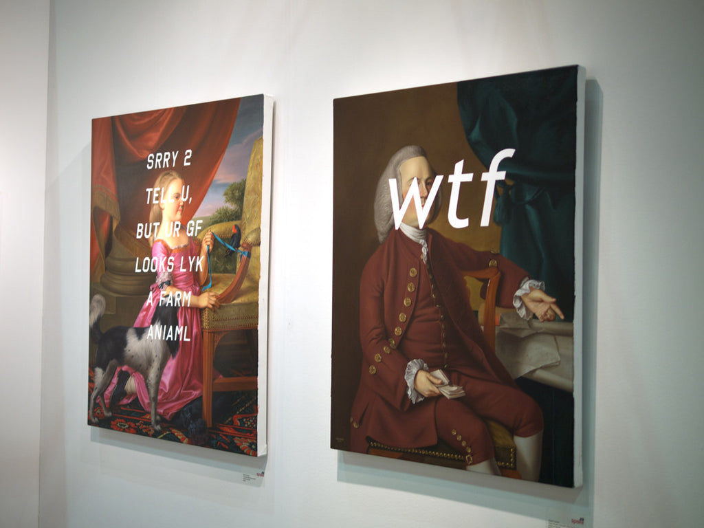 "Shawn Huckins - ""Young Girl With Dog and Bird: Sorry To Tell You, But Your Girlfriend Looks Like A Farm Animal"" - Spoke Art"