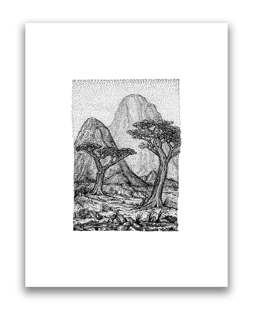 "David Welker - ""The Savannah"" (print) - Spoke Art"