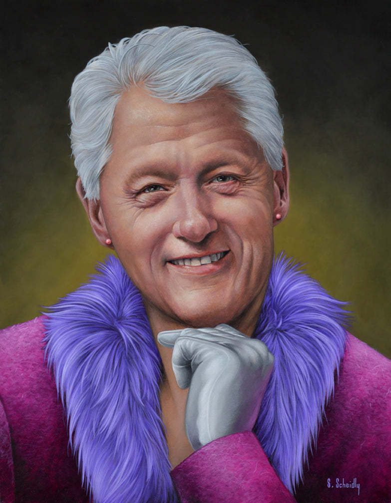 "Scott Scheidly - ""Bill Clinton"" - Spoke Art"