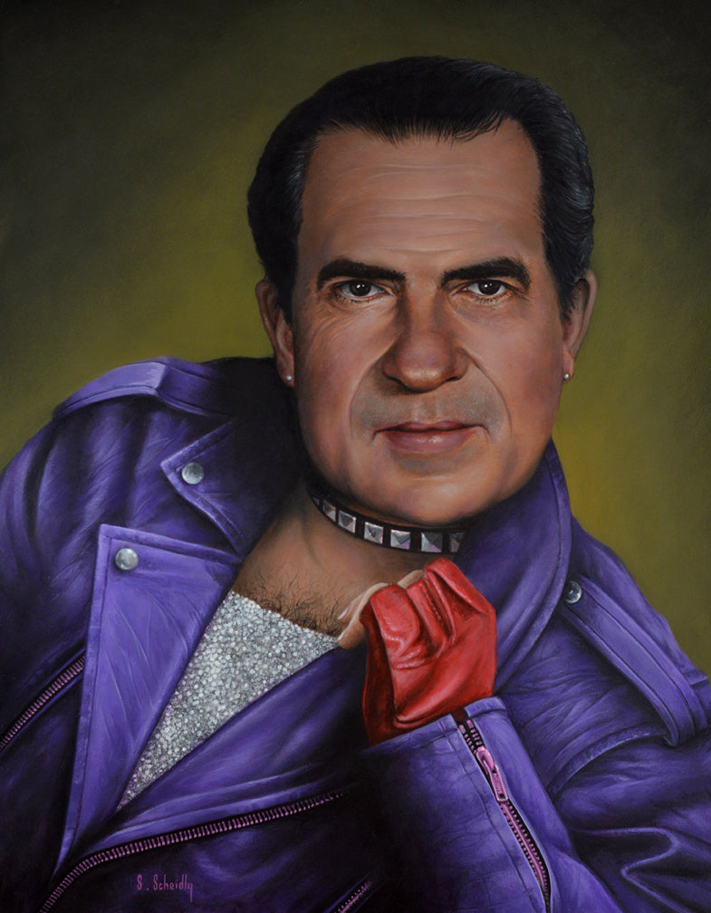 "Scott Scheidly - ""Richard Nixon"" - Spoke Art"