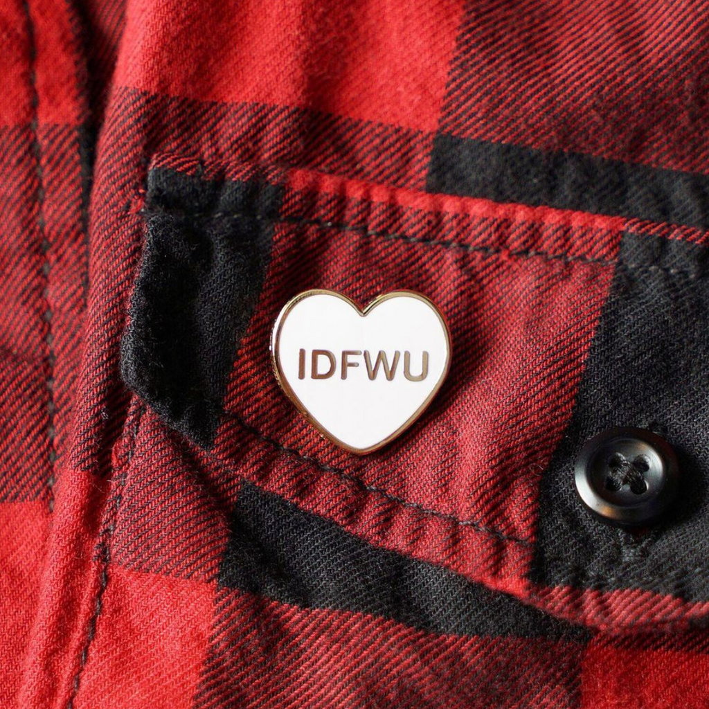 IDFWU Candy Heart Enamel Pin - Spoke Art