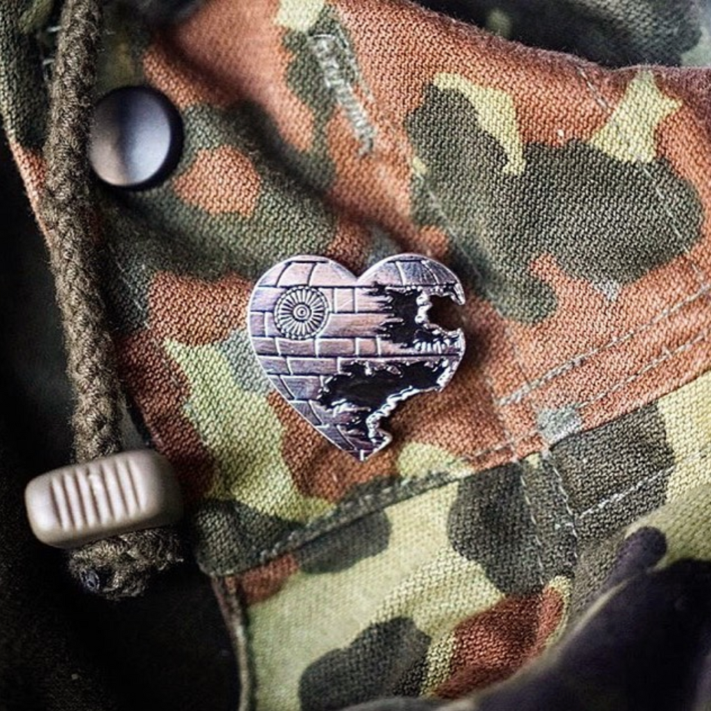 Love is a Battle Station Enamel Pin - Spoke Art