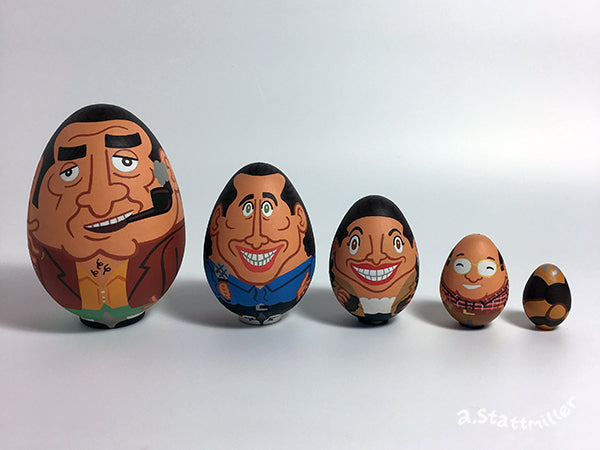"Andy Stattmiller - ""Seinfeld Nesting Eggs"" - Spoke Art"
