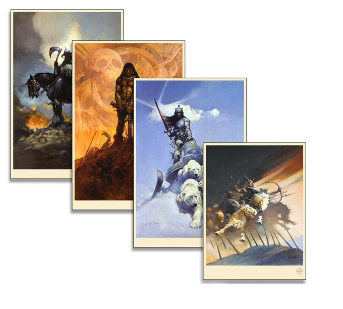 Frank Frazetta - Four Print Set